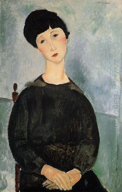 seated young woman 1918