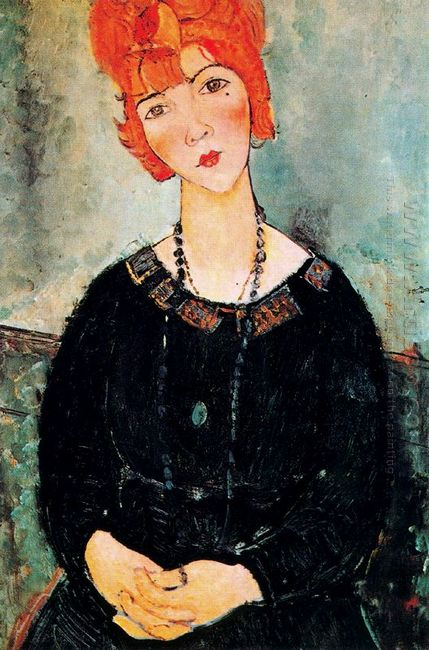 woman with a necklace 1917