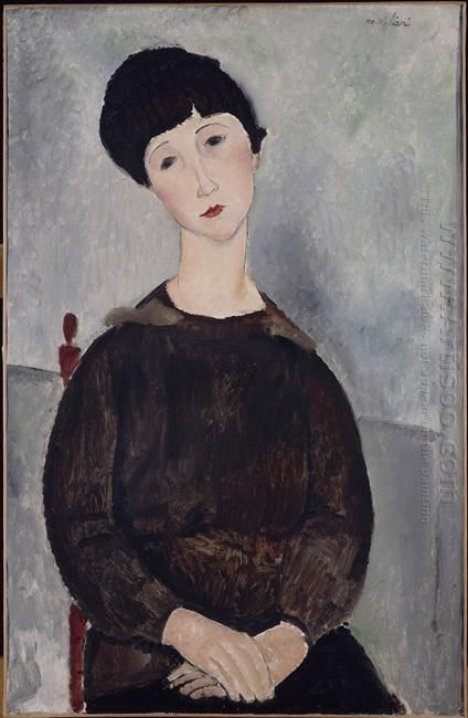 young brunette girl sitting 1918