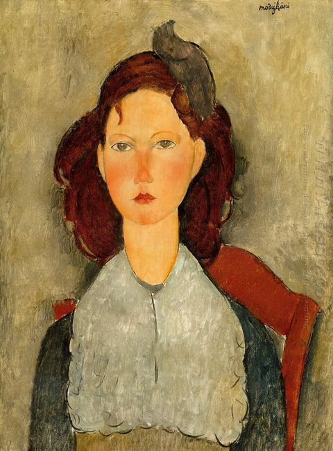 young girl seated 1918