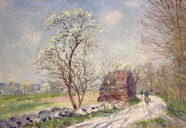 along the woods in spring 1889