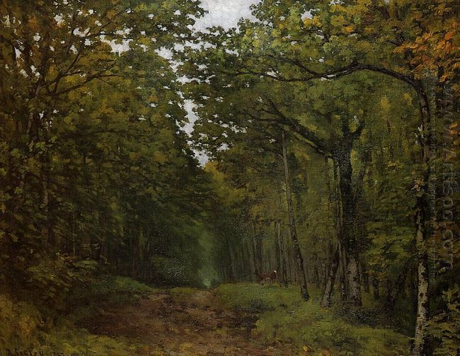 avenue of chestnut trees near la celle saint cloud 1867