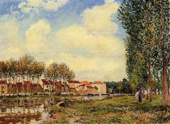 banks of the loing at moret morning 1888