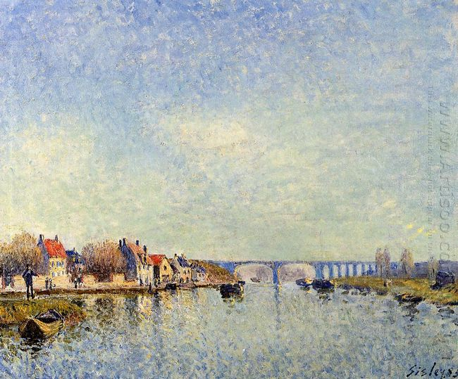 banks of the loing at saint mammes 1885