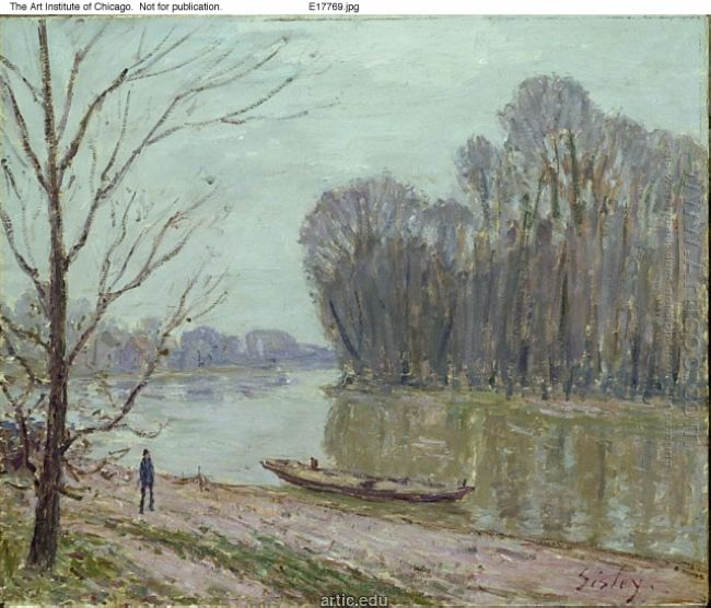 banks of the loing winter 1896