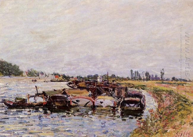 barge garage at saint mammes 1885