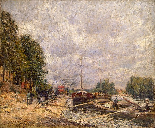 barges at billancourt 1877