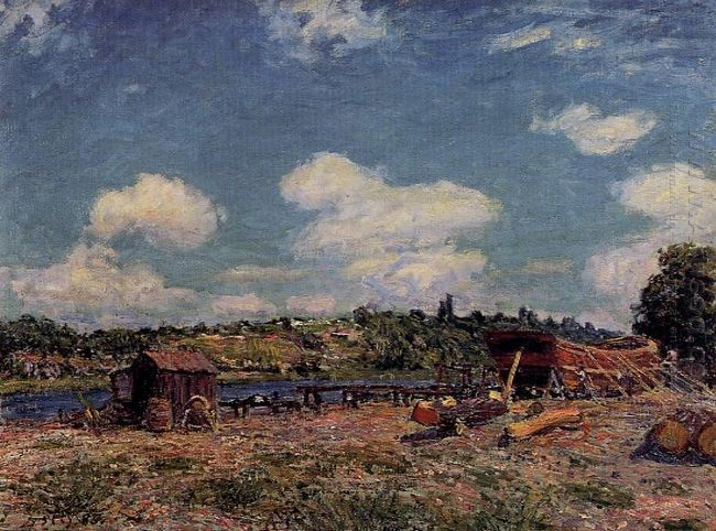boatyard at saint mammes 1885
