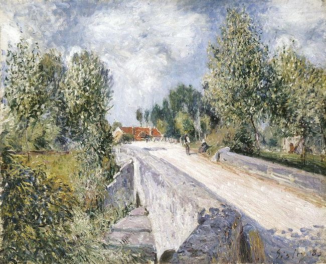 bridge over the orvanne near moret 1883