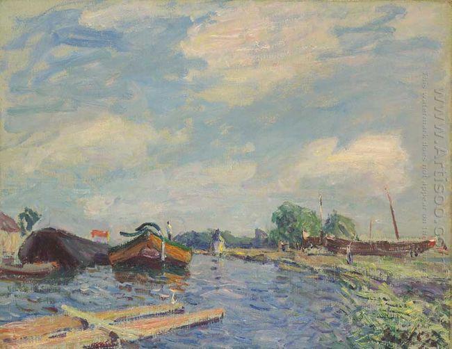 canal at saint mammes 1886