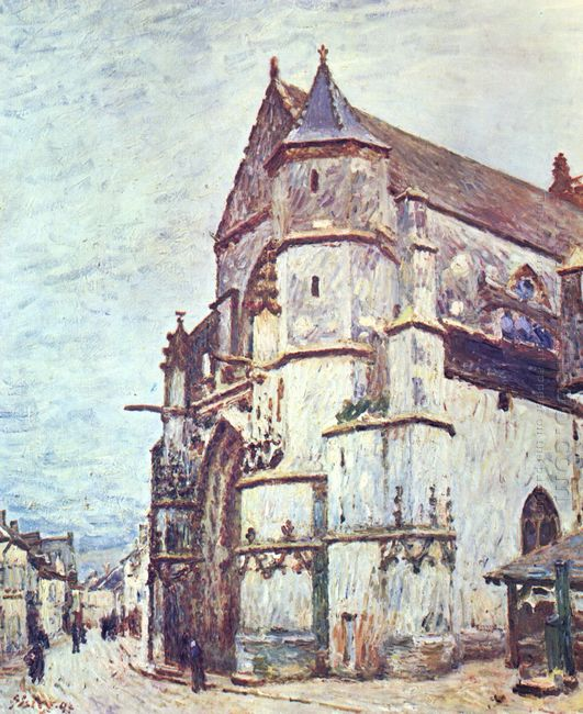 church at moret after the rain 1894