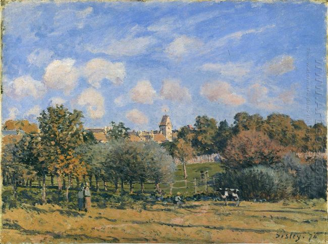 church at noisy le roi in autumn 1874
