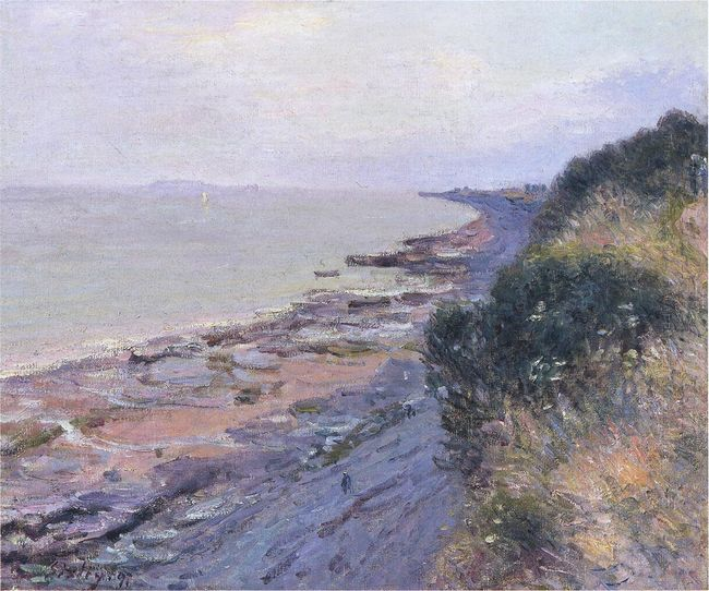 cliffs at penarth evening low tide 1897