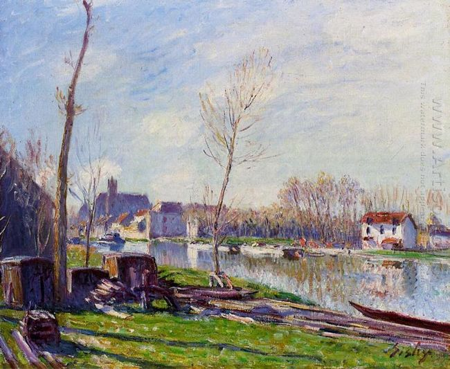 construction site at matrat moret sur loing 1888