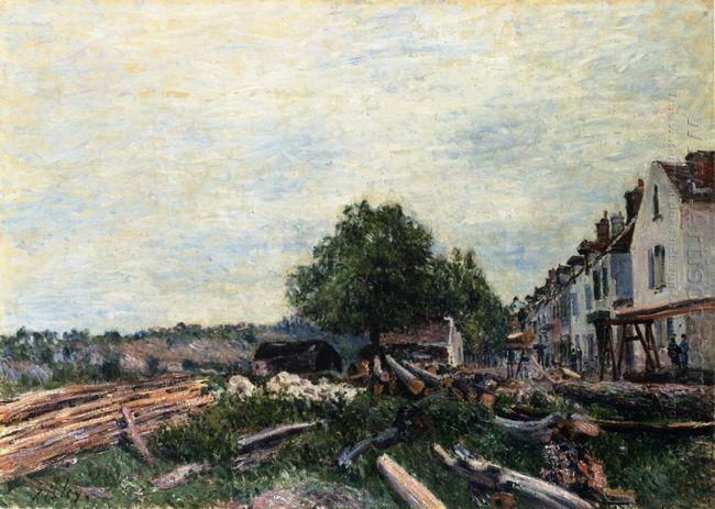 construction site at saint mammes 1880