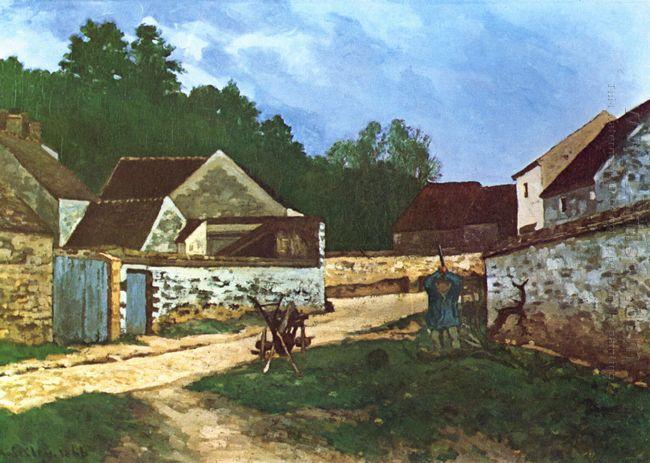 dorfstrasse in marlotte 1866