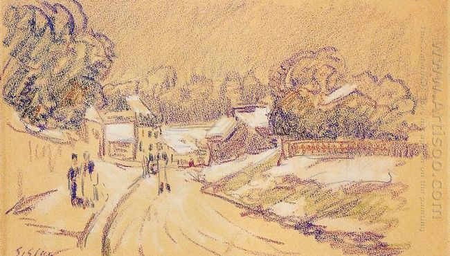 early snow at louveciennes 1872