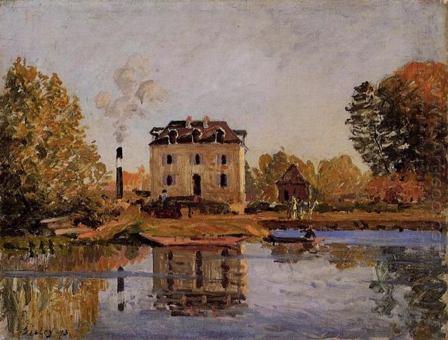 factory in the flood bougival 1873