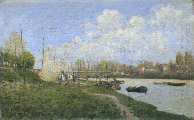fishermen mending nets 1872
