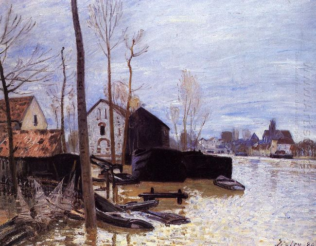 flooding at moret 1889