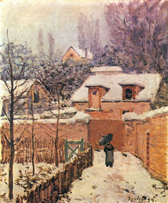 garden in louveciennes in the snow 1874