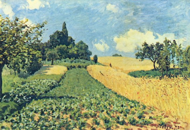 grain fields on the hills of argenteuil 1873