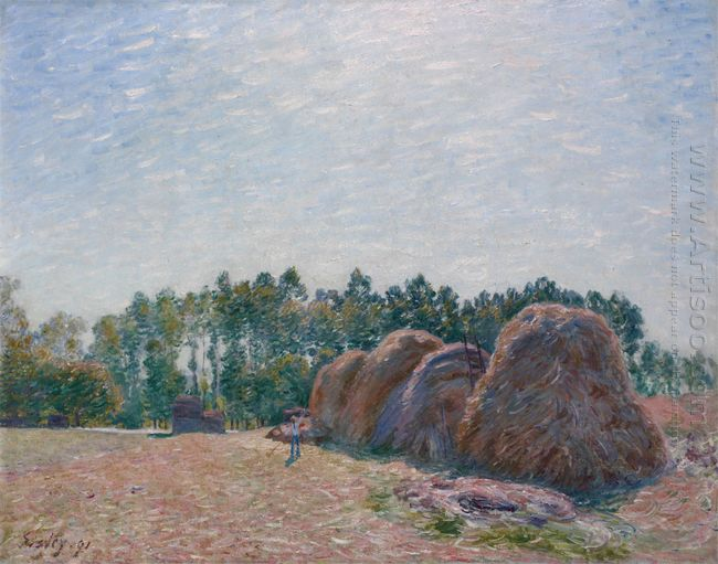 haystacks at moret morning light 1890
