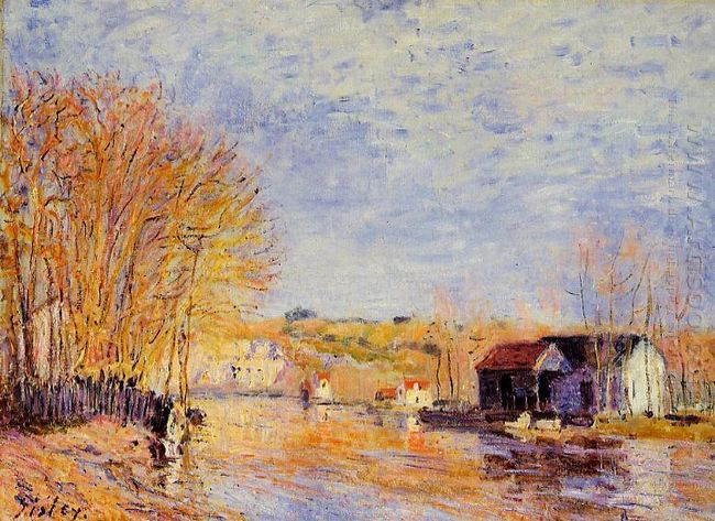 high waters at moret sur loing 1879