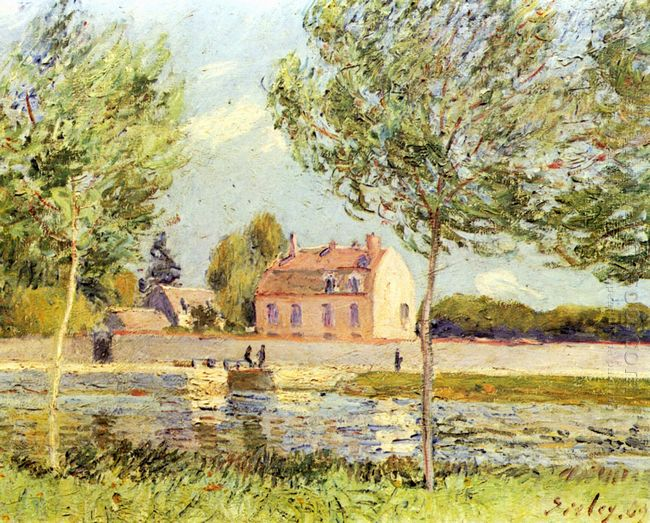 houses on the banks of the loing 1889