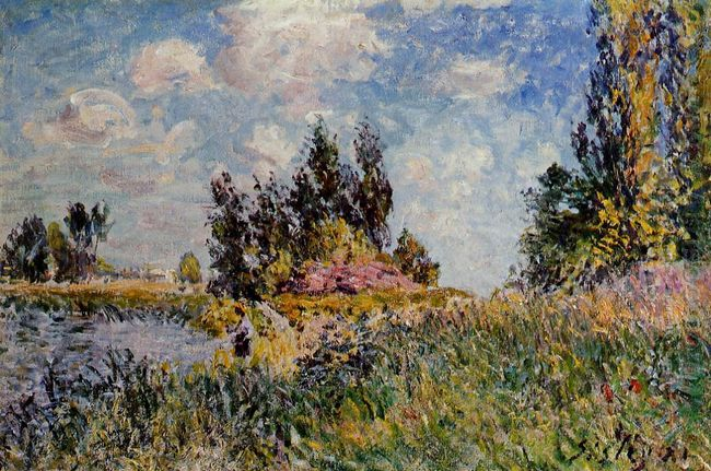 landscape the banks of the loing at saint mammes 1881