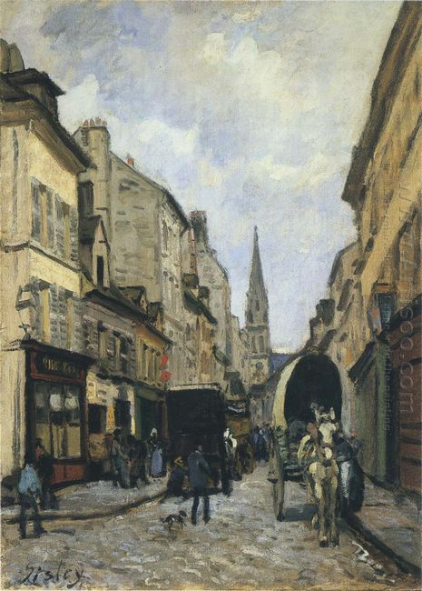 main street in argenteuil 1872
