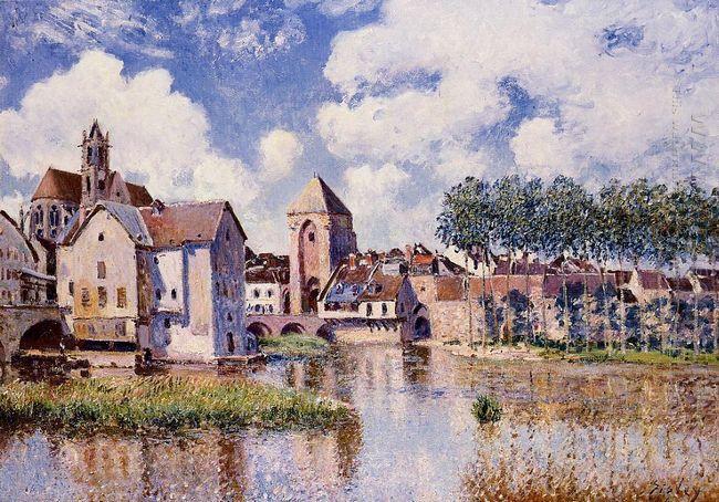 moret sur loing the porte de bourgogne 1891