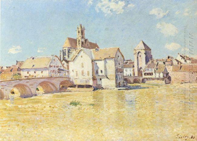 pont de moret dans le soleil du matin 1888