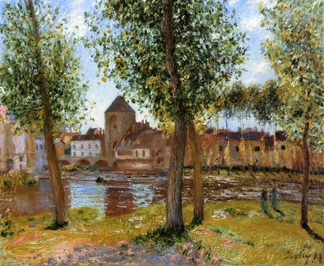 poplars a moret sur loing an august afternoon 1888