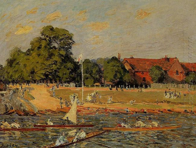 regata at hampton court 1874