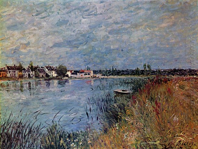 riverbank at saint mammes 1880