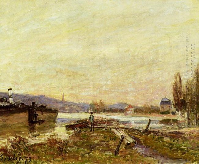 saint cloud banks of the seine 1879