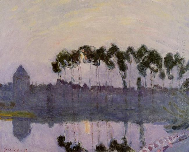 setting sun at moret 1892