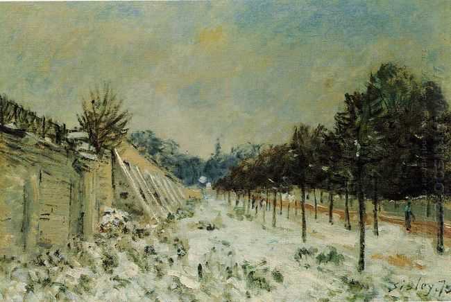 snow at marly le roi 1875