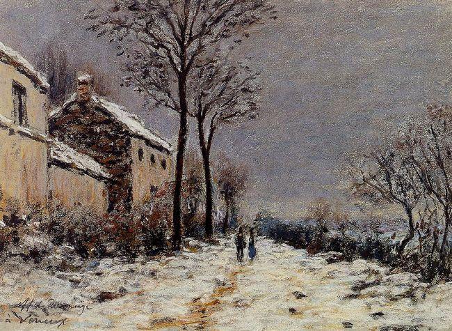 snow effect at veneux 1884