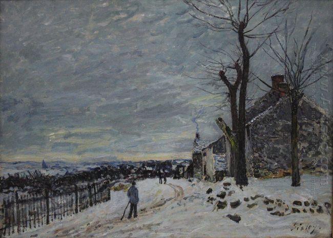 snowy weather at veneux nadon 1880