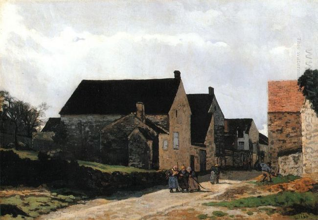 street of marlotte also known as women going to the woods 1866