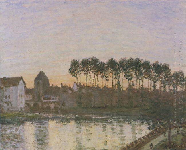 sunset at moret 1877