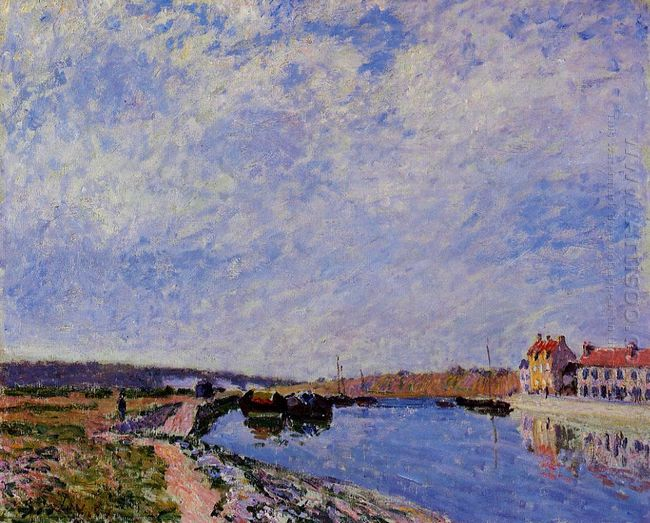 the barge port and saint mammes 1884
