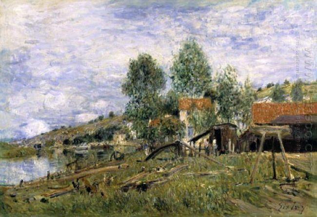the boatyard at saint mammes 1886