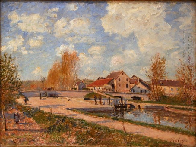 the bourgogne lock at moret spring 1882