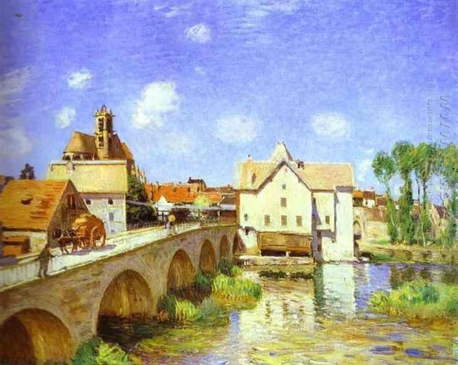the bridge at moret 1893
