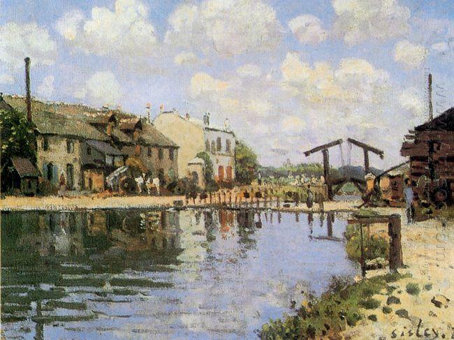the canal saint martin 1872