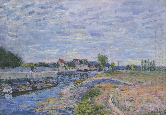 the dam at saint mammes 1885
