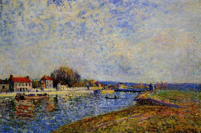the dam loing canal at saint mammes 1884